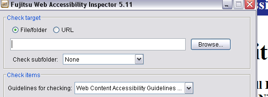 Web Accessibility Inspector - screen shot.